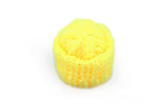 Мини шапочка для рукоделия, желтая, 35х35мм