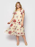 Летнее женское платье свободного кроя Катаисс р. 54-58, фото 1