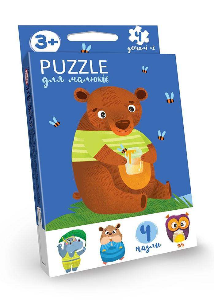 Пазлы для самых маленьких Животные, Puzzle For Kids, Danko Toys