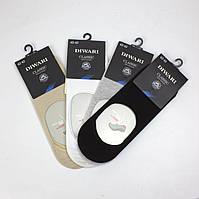 Мужские подследники качественные носки следки хлопковые цвета бежевые белые серые черные Diwari 16С-17СП