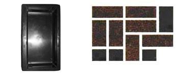 Форма для производства тротуарной плитки «Кирпич гладкий»