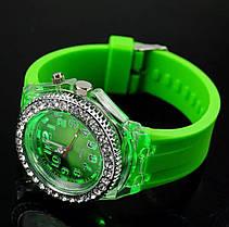 Часы женские силиконовый ремешок два цвета, фото 3