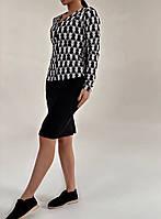Женский стильный костюм: юбка и пиджак, фото 1