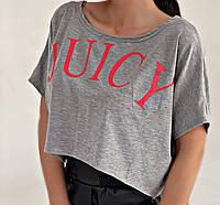 Женская стильная укороченая футболка, фото 1