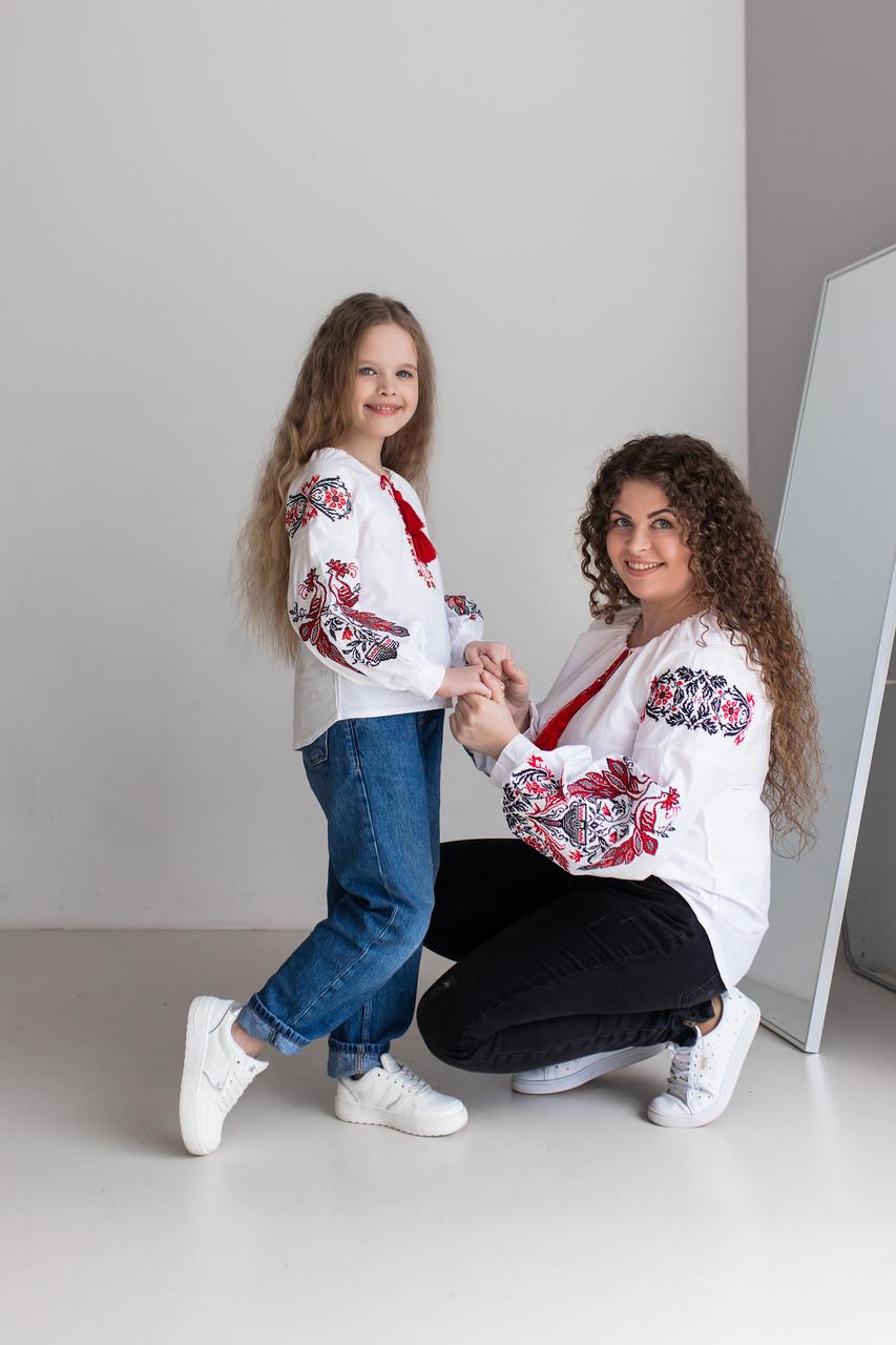 """Вышиванки в этно стиле мама + дочка  """"Жар Птица"""""""
