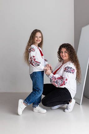 "Вышиванки в этно стиле мама + дочка  ""Жар Птица"", фото 2"
