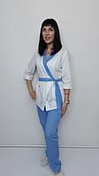 Жіночий медичний костюм Бель бавовна три чверті рукав