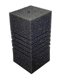 Губка для фільтрів середньозерниста квадратна з прорізами, 10х10х20см