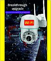 Уличная беспроводная айпи Вай фай поворотная IP камера WiFi Видеонаблюдения с ночной съемкой