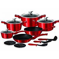 Набір посуду (казанів) Red Metallic Line, арт. EB-5612