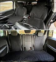 Универсальные защитные авточехлы из Алькантары Накидки чехлы на сидения автомобиля полный комплект черные