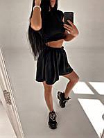 Женский стильный костюм: шорты и топ, фото 1