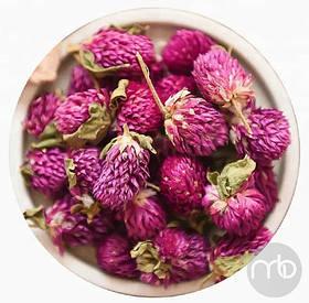 Чайные цветы Китайский красный цветочный чай Гомфрена Шаровидная Амарант Махмали Вадамалли  Qian Ri Hong  50 г