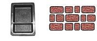 Форма для производства тротуарной плитки «Брук шагрень двойной»