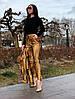 Женские стильные облегающие брюки из эко-кожи