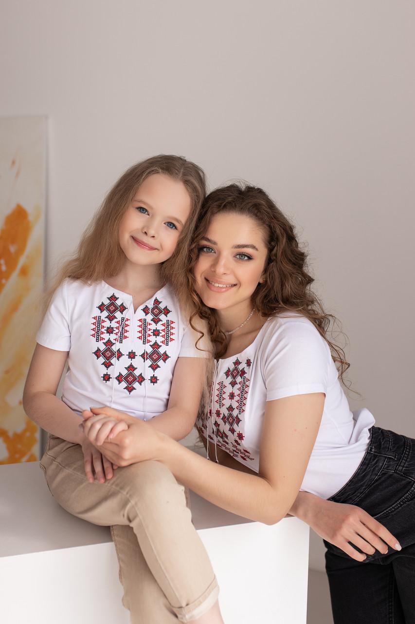 Трикотажные футболки вышиванки семейные