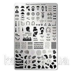 Пластина для стемпингу Moyra № 103 DESIGNER