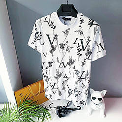Мужская футболка, люкс Louis Vuitton 2021 White