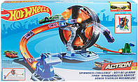 Трек Hot Wheels Хот Вилс Вертикруг Круговое противостояние Hot Wheels GJM77 Spin wheel Challenge