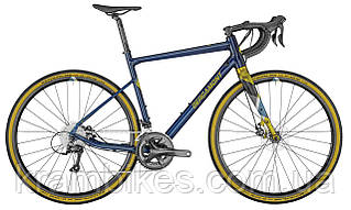"Велосипед Bergamont - Grandurance 4 (2021) (28""/700c-57см) blue/yellow/grey (matt)"