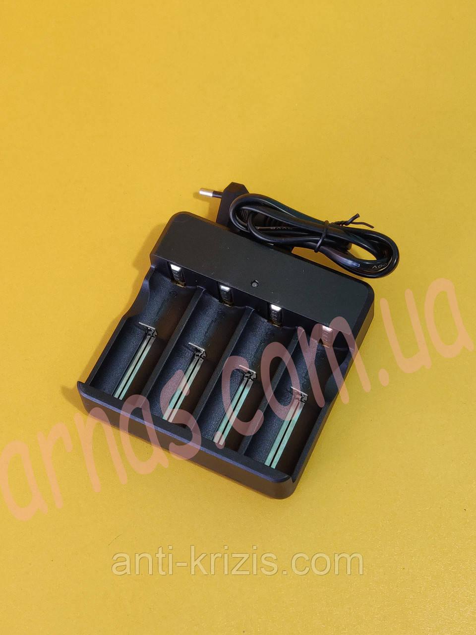 Зарядний пристрій на 4 акумулятора 18650 (18674-5)