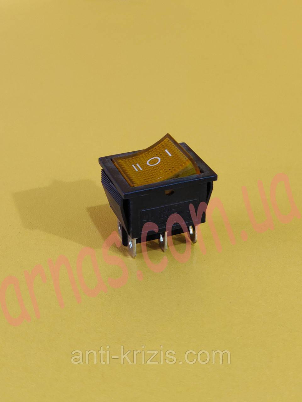 Кнопка одинарная трехпозиционная (7-7)