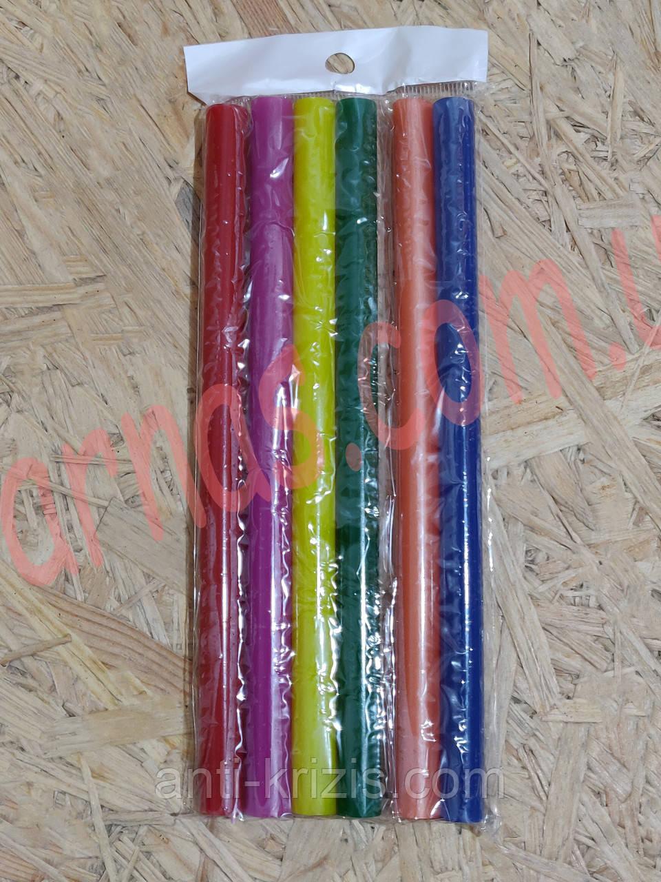 Клей стрижневий силіконовий кольоровий 11мм