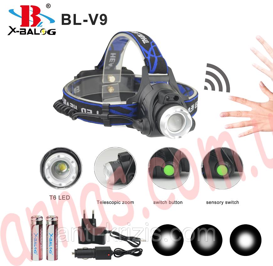 Аккумуляторный налобный фонарь V9T6