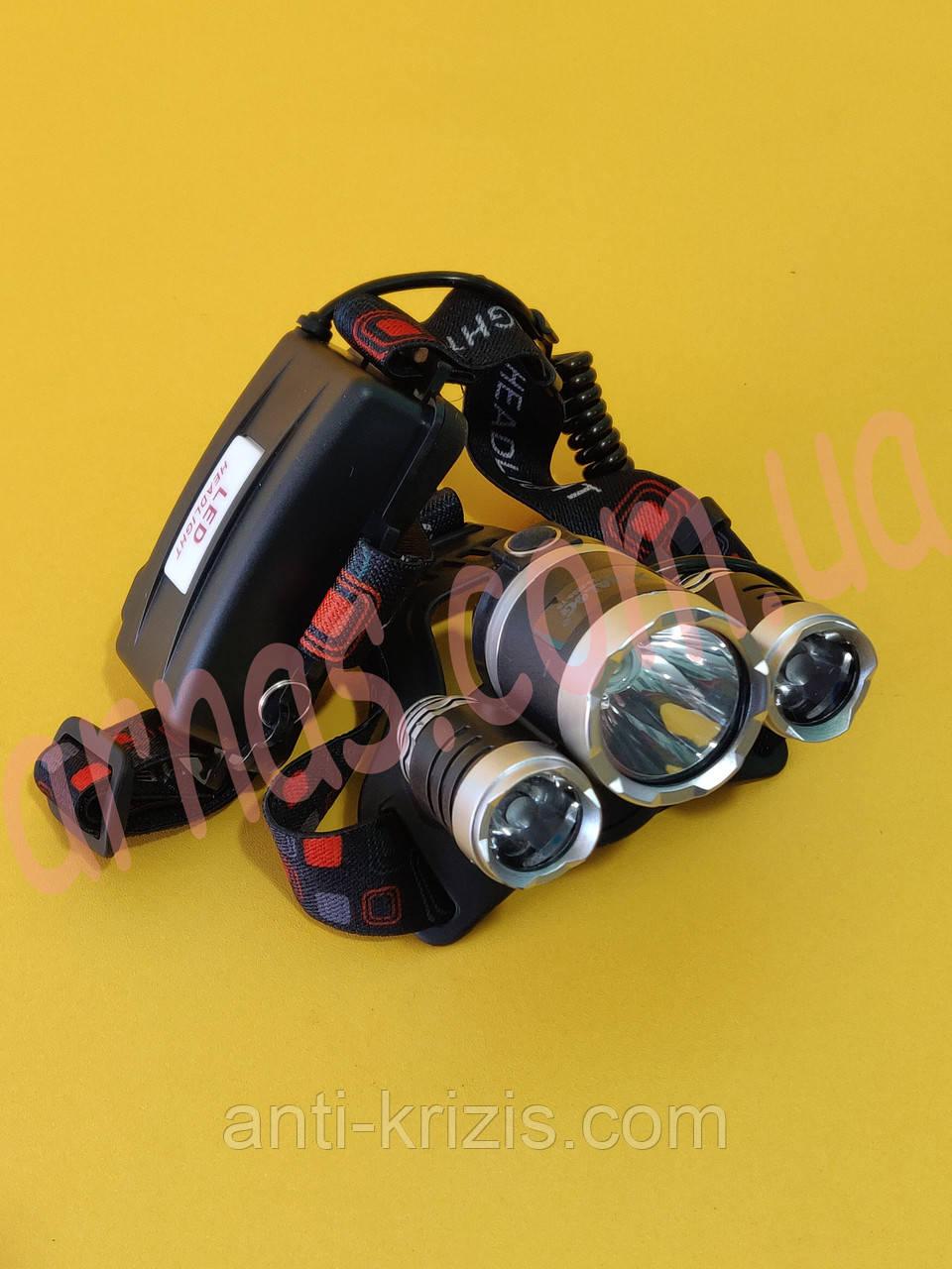 Аккумуляторный налобный фонарь RJ-3000
