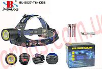 Аккумуляторный налобный фонарь BL-8027, фото 1