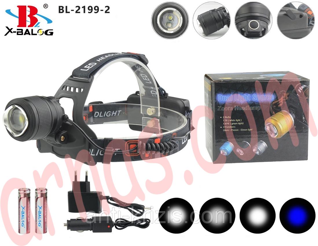 Налобний ліхтар акумуляторний Bailong BL-2199-2