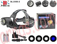 Налобний ліхтар акумуляторний Bailong BL-2199-2, фото 1