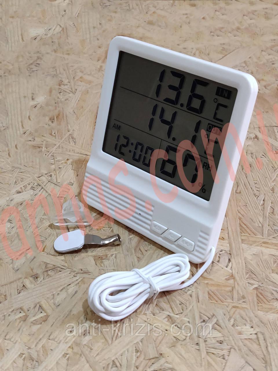 Термометр-гигрометр cx301A цифровой c выносным датчиком