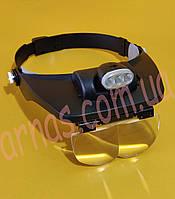 Бинокуляр очки бинокулярные со светодиодной подсветкой MG81001-E, фото 1