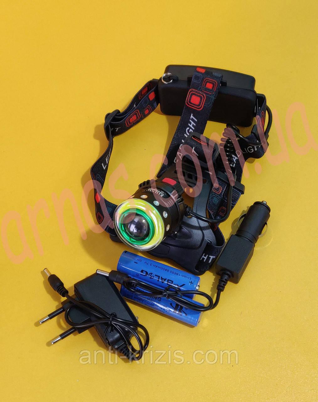 Акумуляторний налобний ліхтар BL-T105-T6+COB
