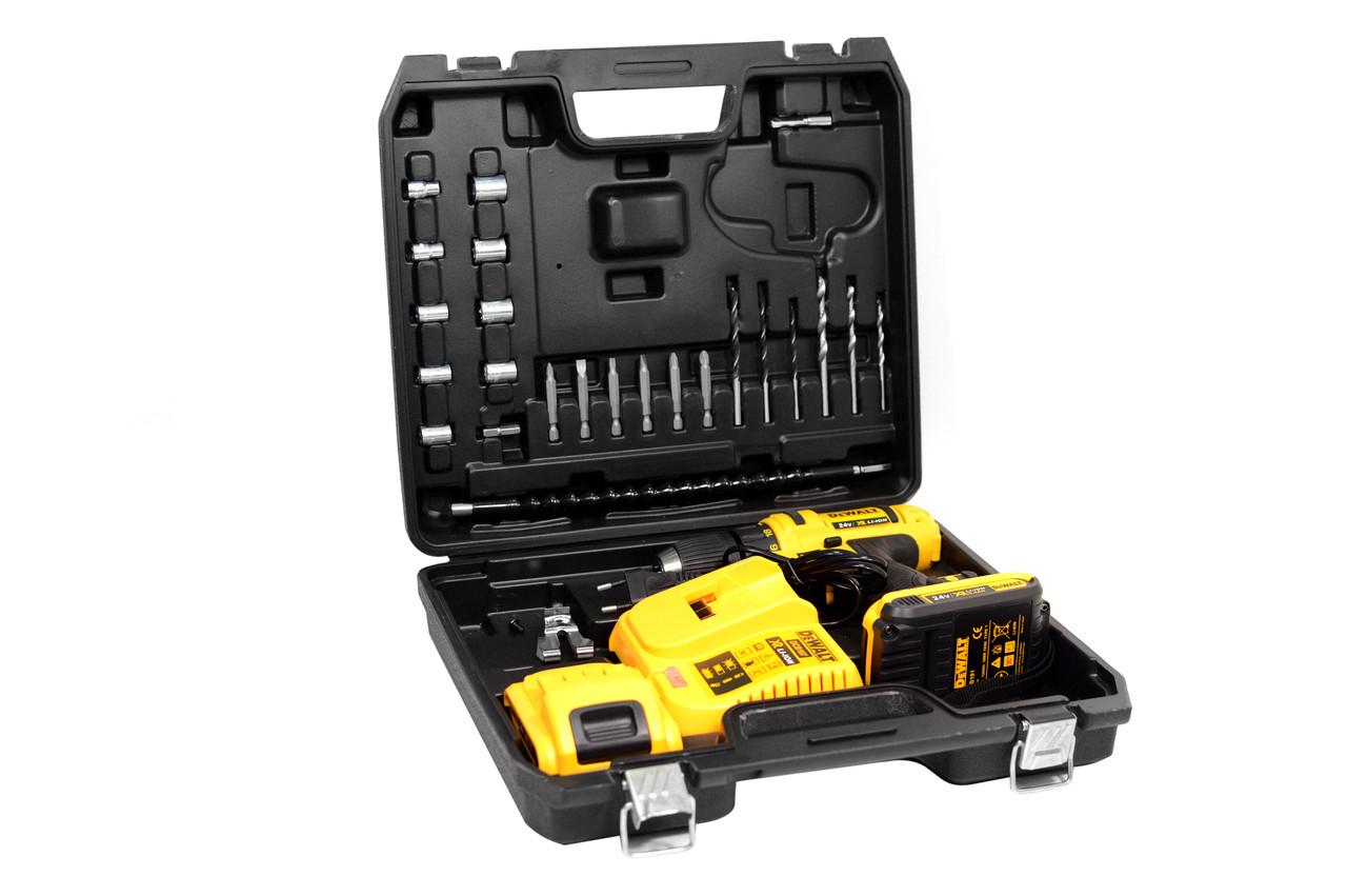 Шуруповерт акумуляторний DeWALT DCD771 мінімальний набір інструментів в кейсі (Шуруповерт ДеВолт)