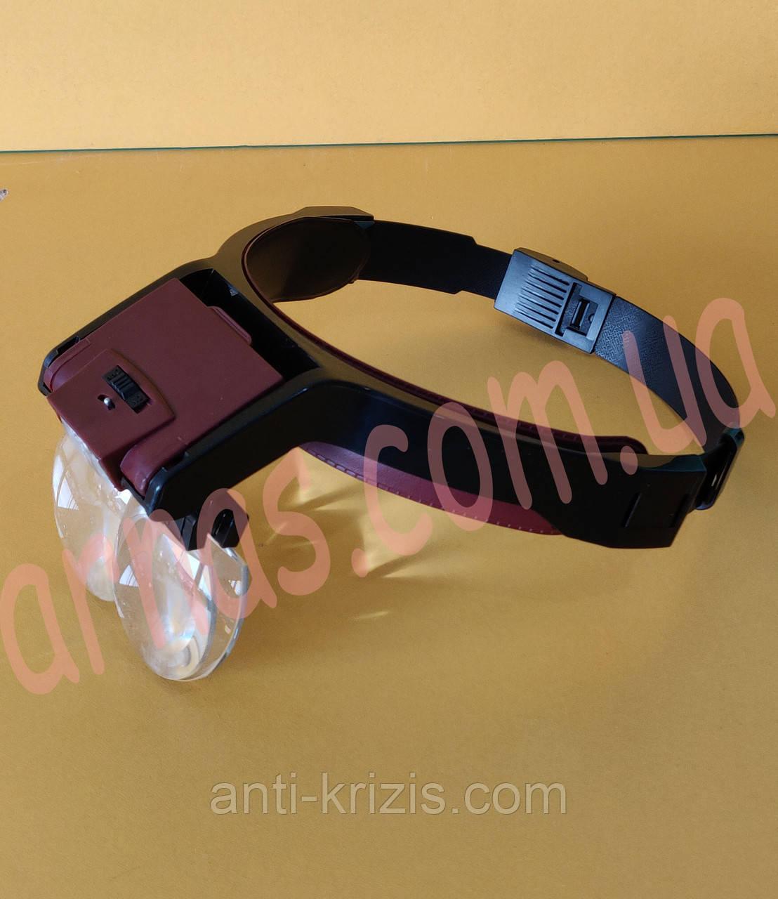 Бинокуляр очки бинокулярные со светодиодной подсветкой MG81001-B