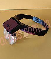 Бинокуляр очки бинокулярные со светодиодной подсветкой MG81001-B, фото 1