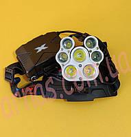 Налобний ліхтар акумуляторний W-627-T6, фото 1