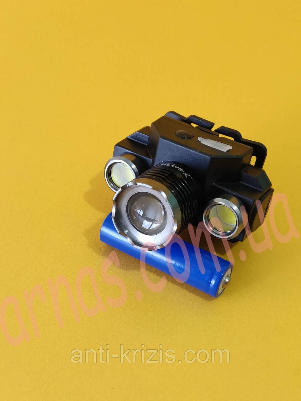 Аккумуляторный налобный фонарь BL-607