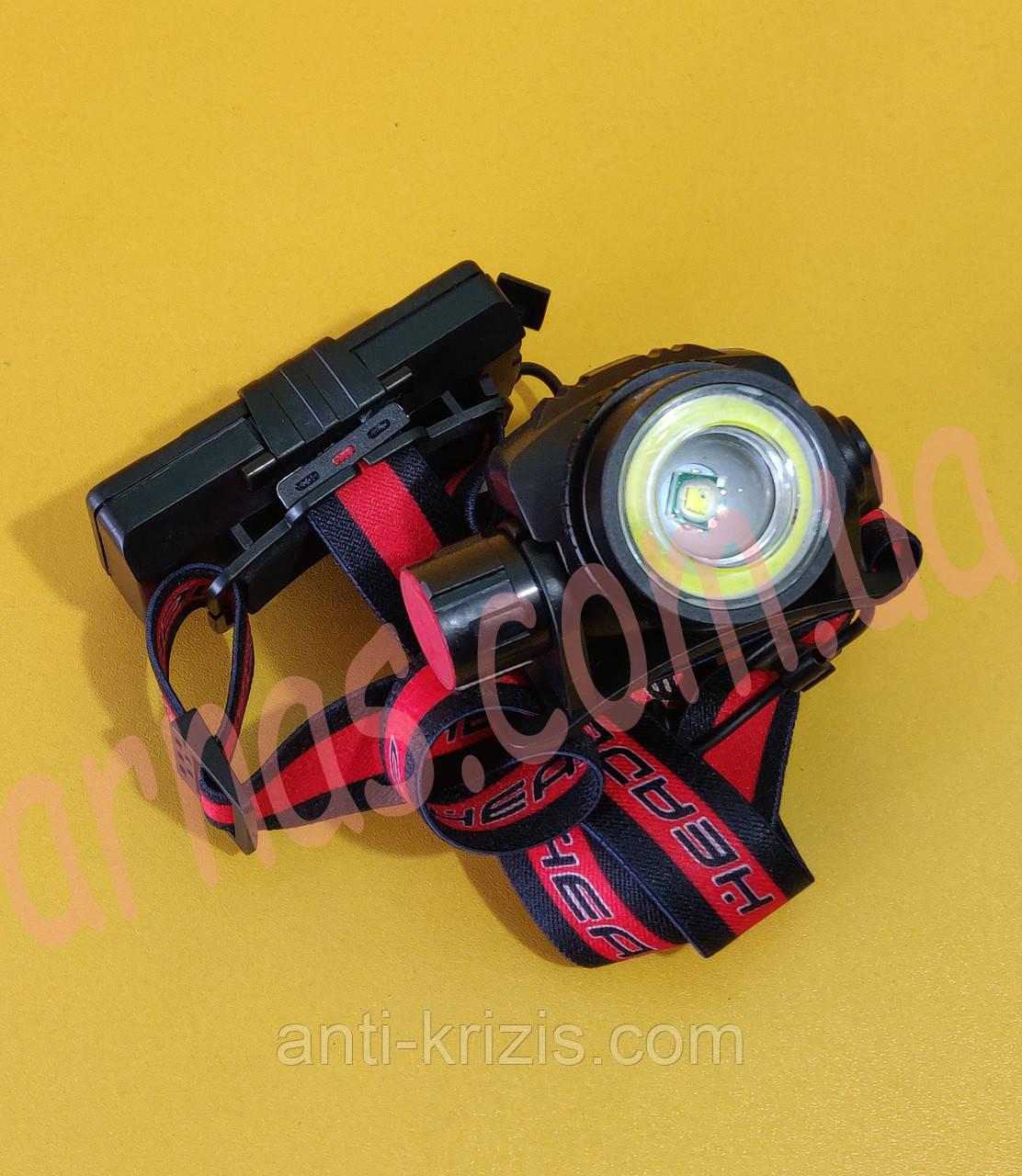 Акумуляторний налобний ліхтар BL-W01-T6