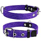 Ошейник х/б тесьма CoLLaR фиолетовый для собак (ширина 25мм, длина 41-53см) 02629, фото 2