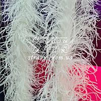 Боа страусиное пятислойное, цвет белый, длина 1,9м
