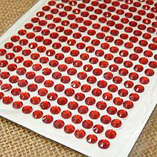 Самоклеючі стрази 6 мм, на планшеті 504 шт., червоні