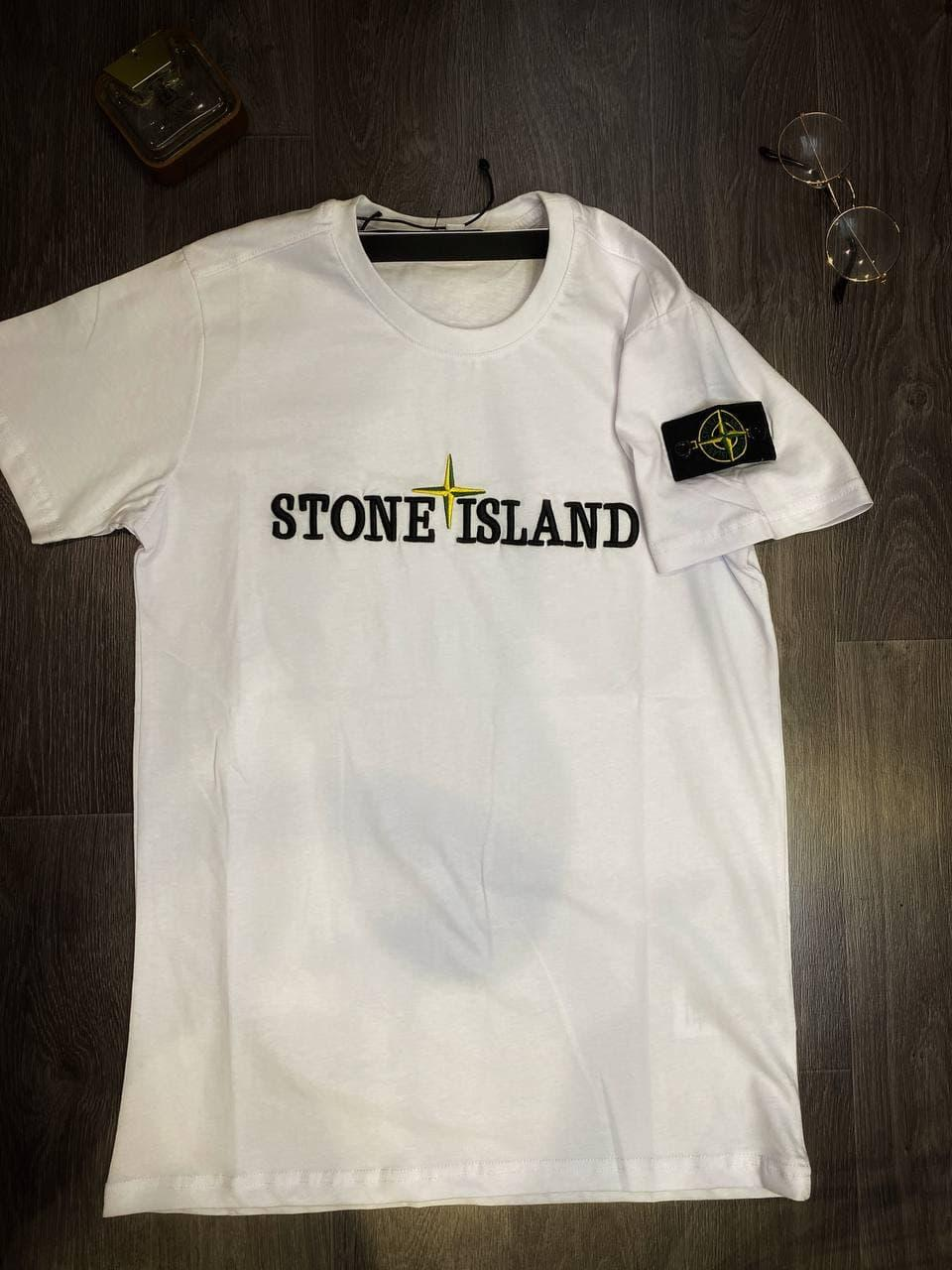 Мужская футболка Stone Island White