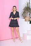 Жіноче плаття, євро - софт, р-р 40; 42; 44; 46 (чорний), фото 2