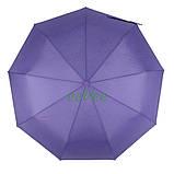 Жіночий напівавтомат зонт з внутрішнім малюнком Зоряне небо складаний Фіолетовий Lantana (711-7), фото 5