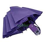 Жіночий напівавтомат зонт з внутрішнім малюнком Зоряне небо складаний Фіолетовий Lantana (711-7), фото 6