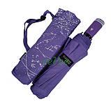 Жіночий напівавтомат зонт з внутрішнім малюнком Зоряне небо складаний Фіолетовий Lantana (711-7), фото 7