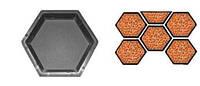 Форма для производства тротуарной плитки «Шестигранник шагрень»